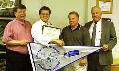 GM's prototype supplier 2000 award Coach James T. David Presiding